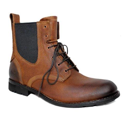 Handgemaakte hoge schoen