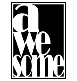 Sparkling Paper poster Awesome black