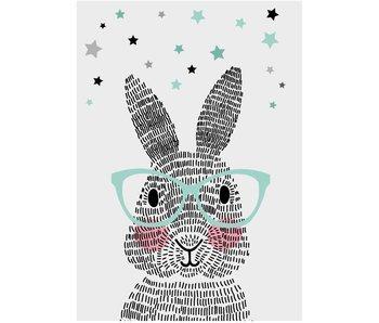 Sparkling Paper 10 postcards mr. rabbit