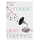 Sparkling Paper poster music gives happiness colour