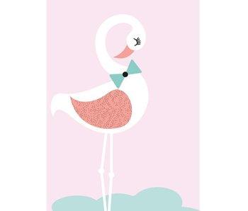 Sparkling Paper 10 postkaarten flamingo