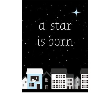 Sparkling Paper 10 postcards a star is born blue