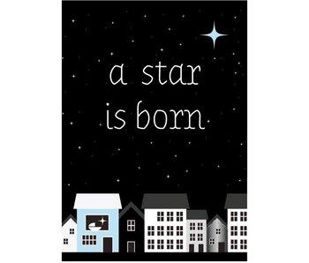 Sparkling Paper 10 postkaaarten a star is born blue