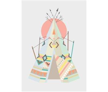Sparkling Paper 10 postkaarten tipi
