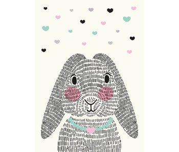 Sparkling Paper 10 postcards mrs. rabbit