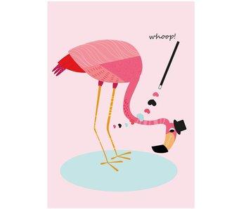 Sparkling Paper 10 postcards flamingo whoop