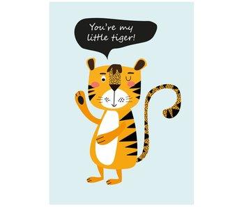 Sparkling Paper 10 postcards little tiger