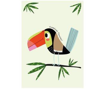 Sparkling Paper 10 postcards tropical toucan