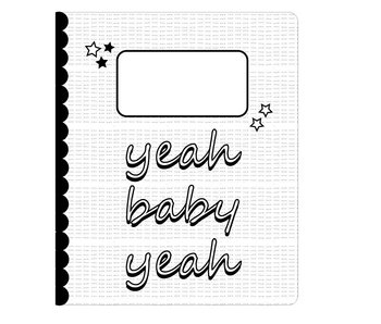 Sparkling Paper 10 lined notebooks yeah baby yeah