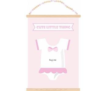 Sparkling Paper poster hug me pink