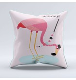 Sparkling Paper cushion flamingo whoop (per 2 pieces)