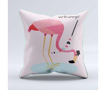 Sparkling Paper cushion flamingo whoop (per 2 pieces)