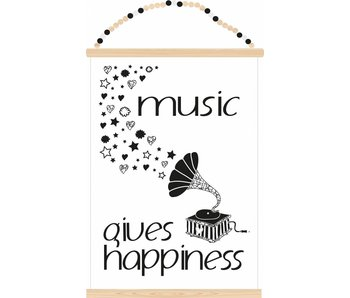 Sparkling Paper poster music gives happiness