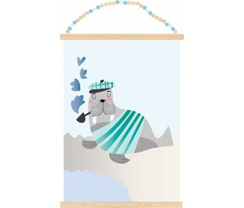 Sparkling Paper poster walrus