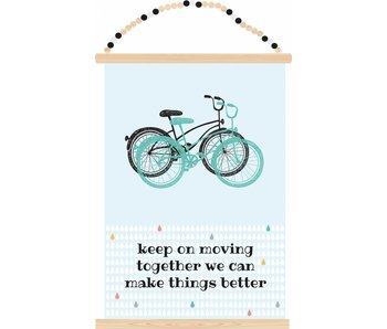 Sparkling Paper poster keep moving