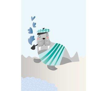 Sparkling Paper 10 postkaarten walrus