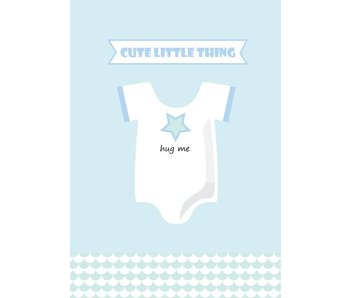 Sparkling Paper 10 postkaarten hug me blue