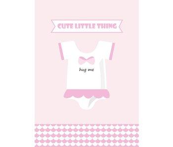 Sparkling Paper 10 postkaarten hug me pink