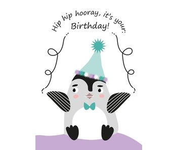 Sparkling Paper 10 postkaarten happy birthday pinguin