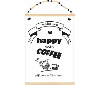 Sparkling Paper poster coffee wifi and love