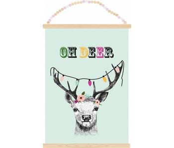 Sparkling Paper poster oh deer