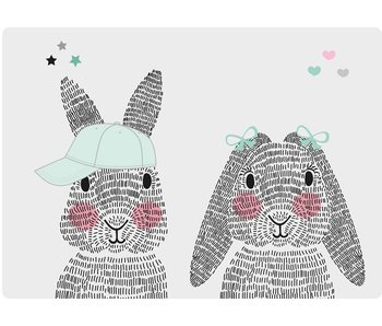 Sparkling Paper 10 A5 kaarten mr en mrs rabbit