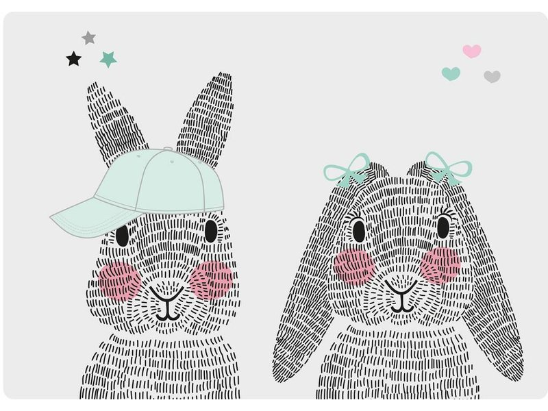 Sparkling Paper 10 A5 cards mr. and mrs. rabbit