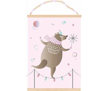 Sparkling Paper poster dancing bear