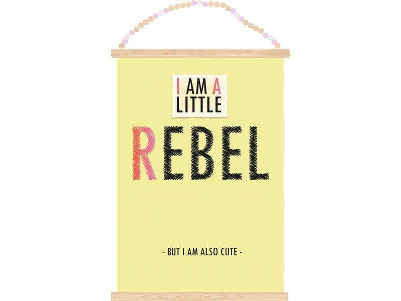 Sparkling Paper poster little rebel