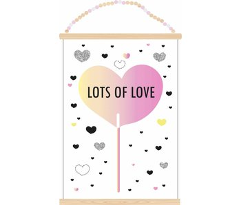 Sparkling Paper poster lots of love