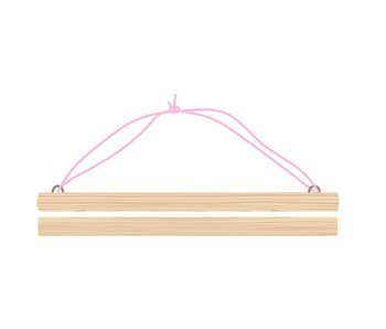 Sparkling Paper A3 posterdisplay pink cord