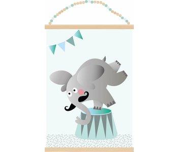 Sparkling Paper poster olifant op bal