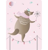 Sparkling Paper 10 A5 cards dancing bear