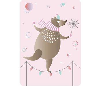 Sparkling Paper 10 A5 kaarten dancing bear