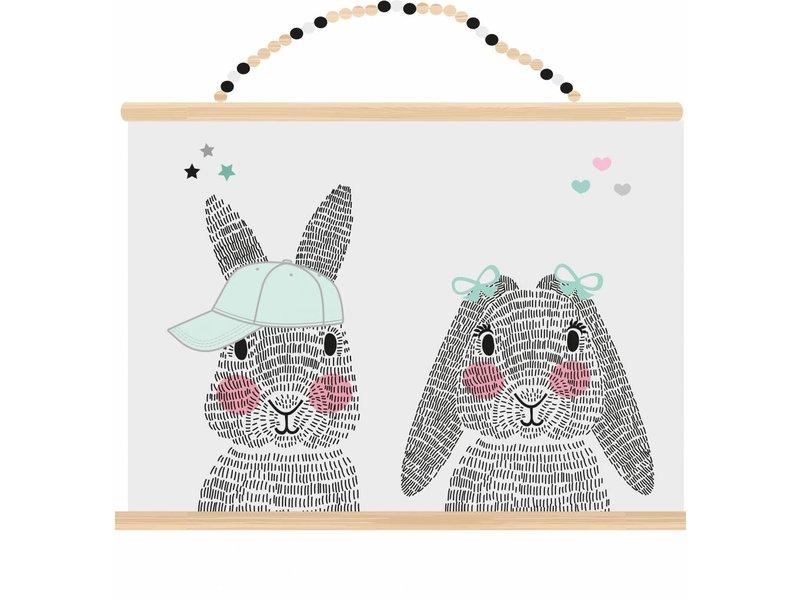 Sparkling Paper poster mr. en mrs. rabbit