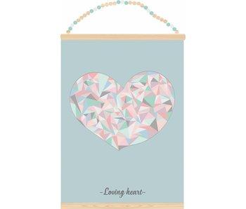 Sparkling Paper poster loving heart