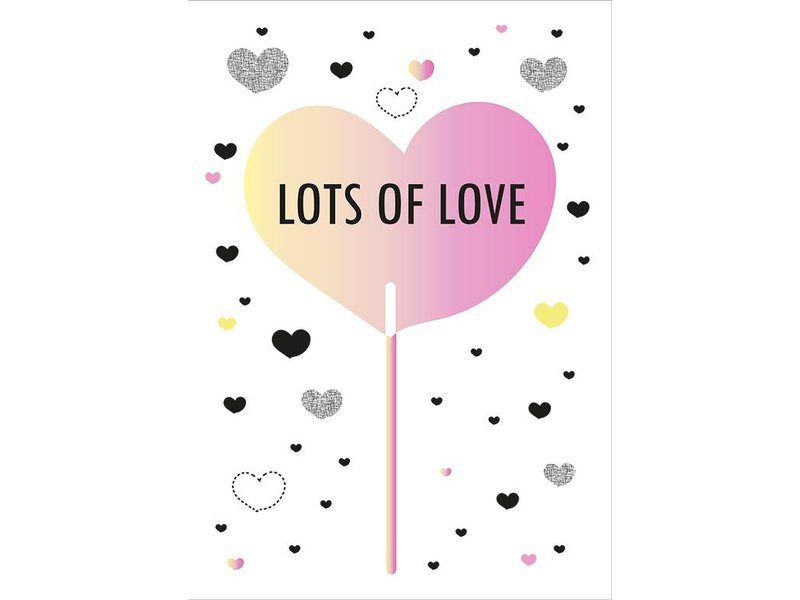 Sparkling Paper 10 postkaarten lots of love