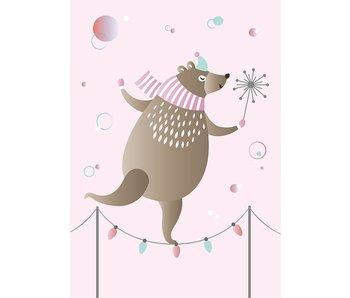 Sparkling Paper 10 postcards dancing bear