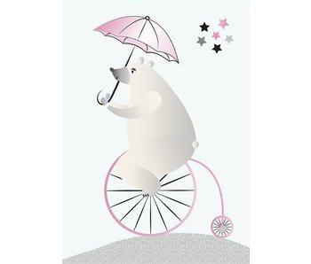 Sparkling Paper 10 postcards biking bear