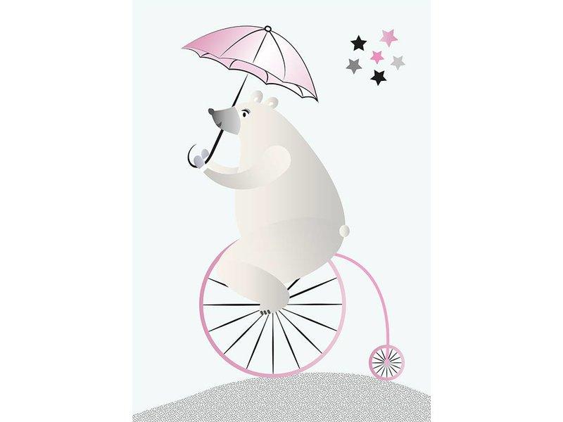 Sparkling Paper 10 postkaarten biking bear
