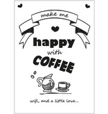 Sparkling Paper 10 postcards coffee wifi and love