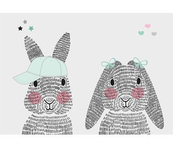 Sparkling Paper 10 postcards A6 mr. and mrs. rabbit