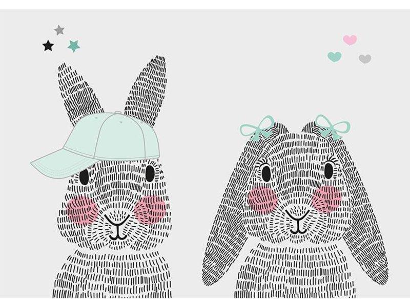 Sparkling Paper 10 postkaarten mr. en mrs. rabbit