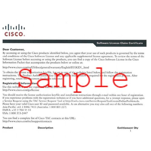 Cisco LIC-WISM2-100A