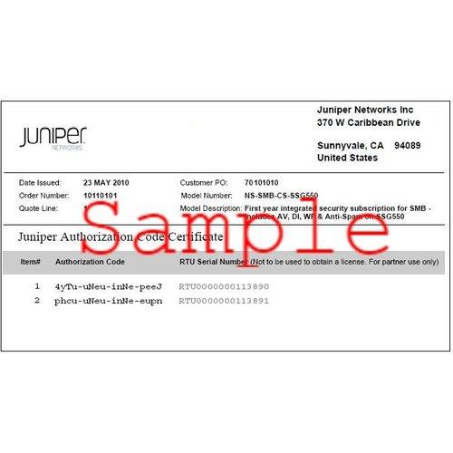 Juniper S-SA-UP-128K