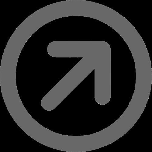 Arrow diagonal grey