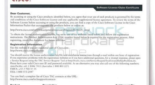 ASA 5500 Content Security Licenses
