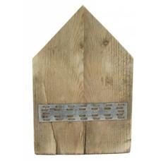 Huisje van steigerhout - puntdak