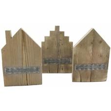 Huisje van steigerhout - schoorsteen