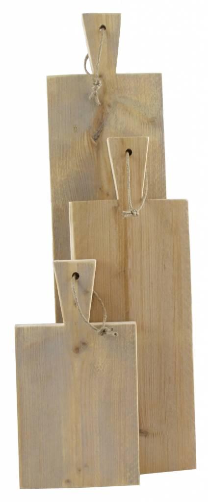 Serveerplank van steigerhout - 36 cm lang - Leefhuus
